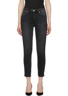 AMO Black High-Rise Stix Crop Jeans