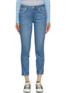 AMO Blue Frayed Twist Jeans