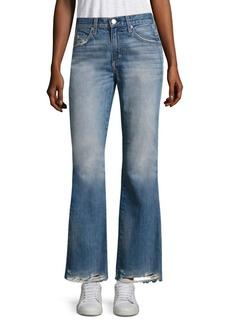 AMO Bootcut Frayed Hem Jeans