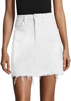 AMO Gemma Frayed Denim Skirt