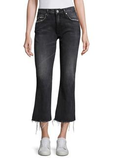 AMO Kick Cropped Flare Jeans