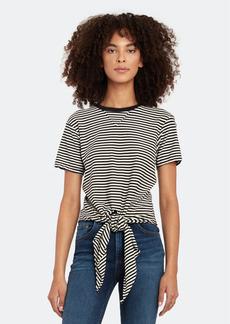 AMO Tie Front Crewneck T-Shirt - XS - Also in: L, M, S