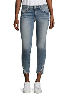 AMO Twist Side Pipe Skinny Jeans