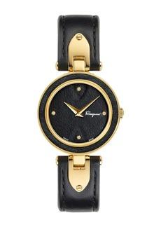Ferragamo Women's Gilio Leather Strap Watch, 32mm