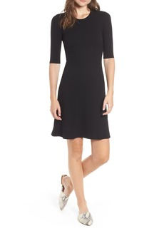 Amour Vert Marilyn Rib Fit & Flare Dress