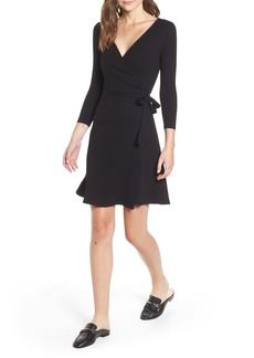 Amour Vert Theodora Rib Wrap Dress