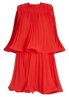 Amur Ameris Pleated Chiffon Mini Dress