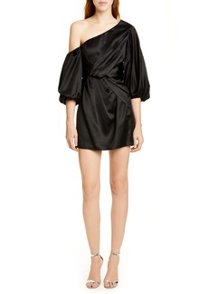 AMUR Alessandra One-Shoulder Satin Minidress