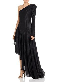 Amur Asymmetric One-Shoulder Shimmer Dress