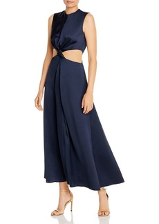 Amur Inara Sleeveless Satin Cutout Dress