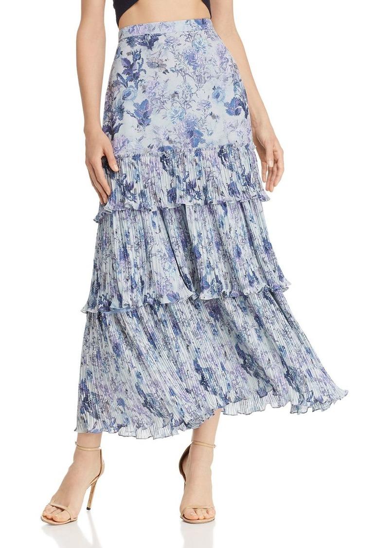 Amur Kola Floral A-Line Skirt