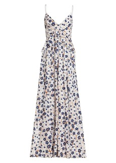 Amur Organic Cotton Ruffle Maxi Dress