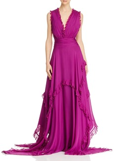 Amur Ursula Silk Sleeveless Maxi Dress