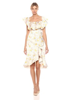 AMUR Women's Lemon Floral Dress