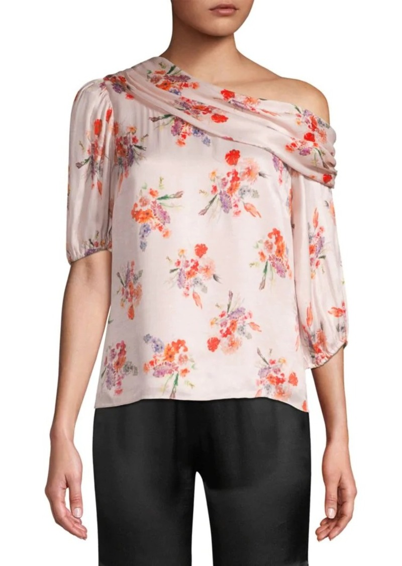 Amur Betty Asymmetric Floral Blouse