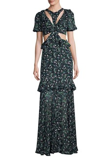 Amur Carter Cut-Out Long Dress