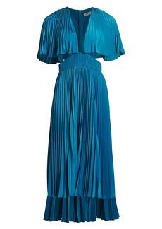Amur Dara Pleated Cutout Dress