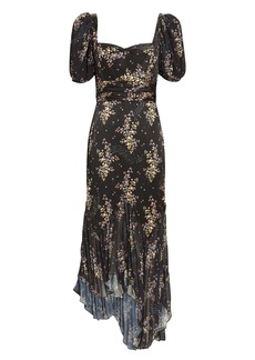 Amur Destiny Asymmetrical Floral Dress