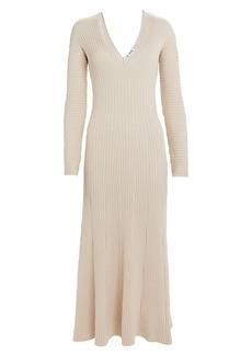 Amur Fawn Ribbed Knit Dress