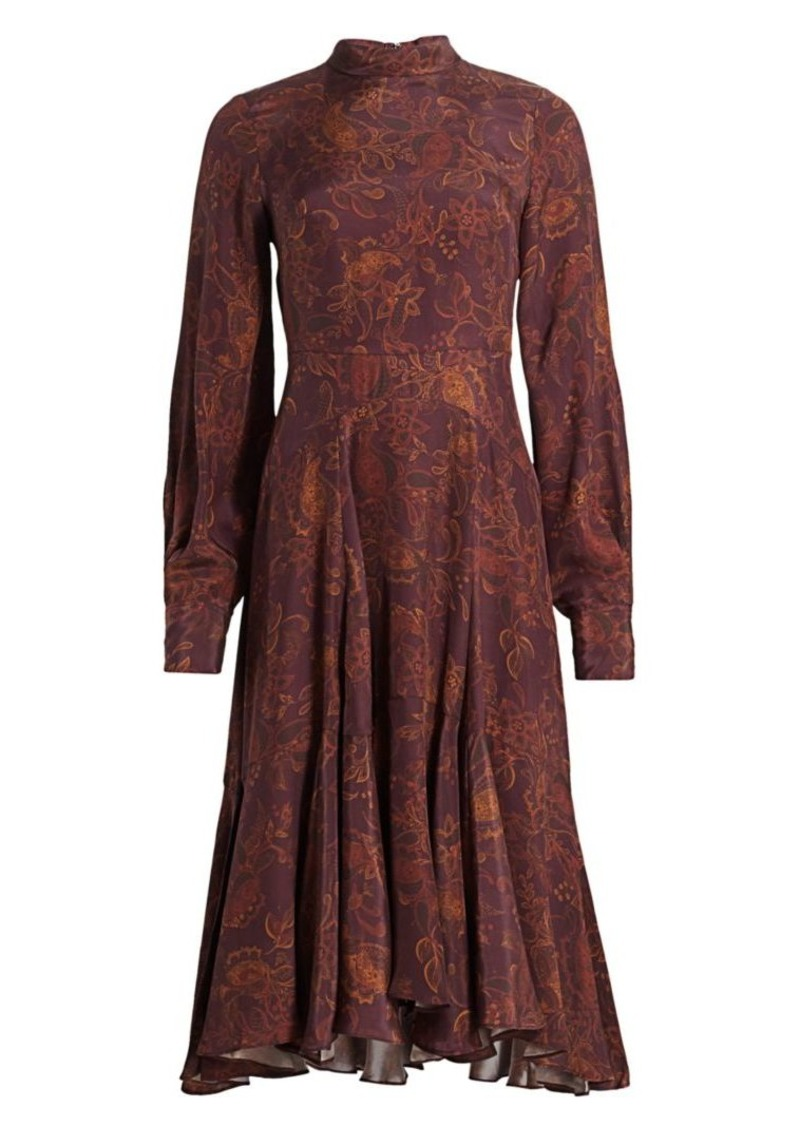 Amur Floral Puff-Sleeve Dress