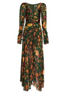 Amur Korena Silk Maxi Dress