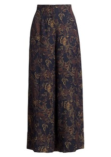Amur Lewis Floral Wide-Leg Pants