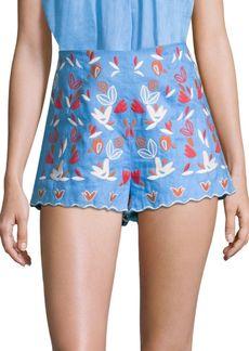 Amur Linen Demi Floral Shorts