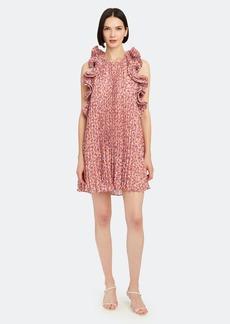 Amur Mimi Pleated Chiffon Mini Dress - 0 - Also in: 12