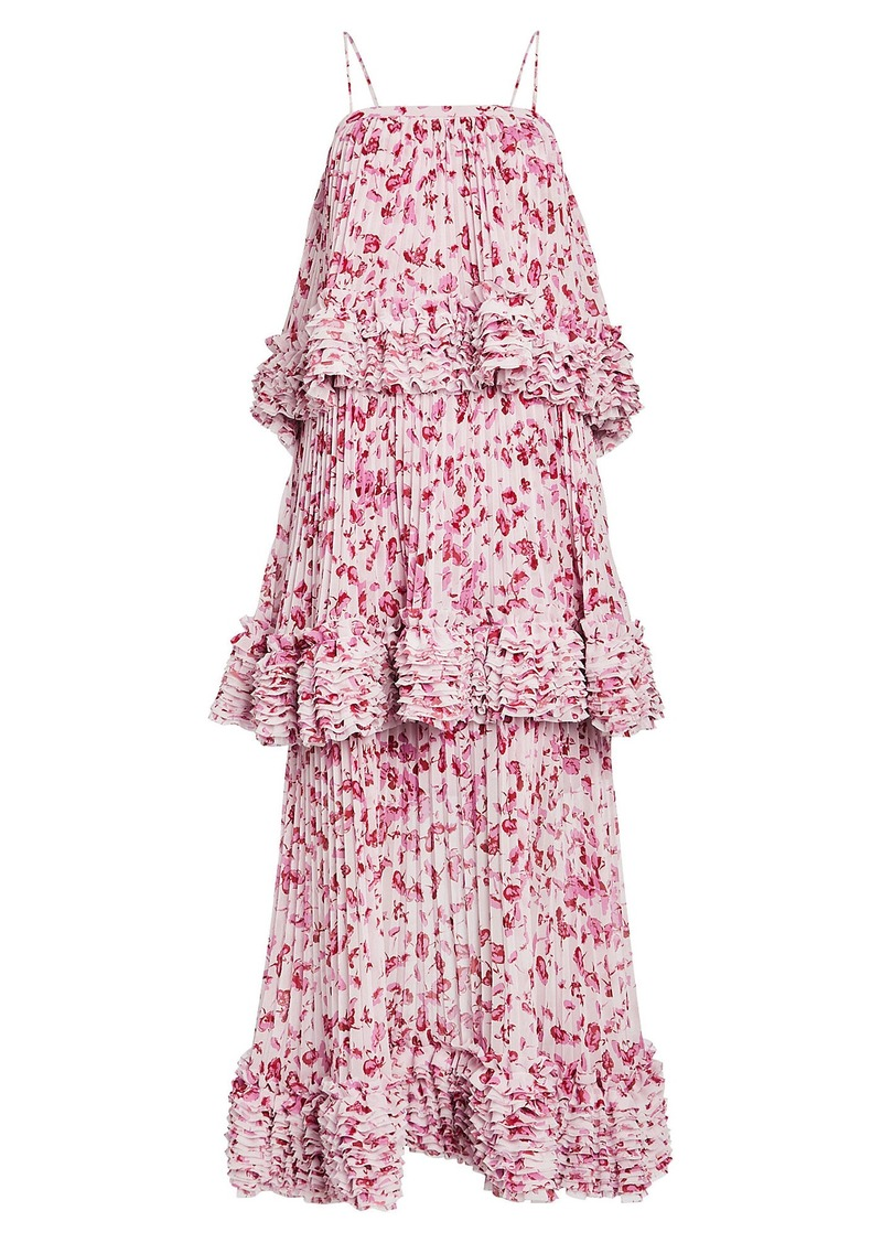 Amur Nicola Floral Tiered Dress