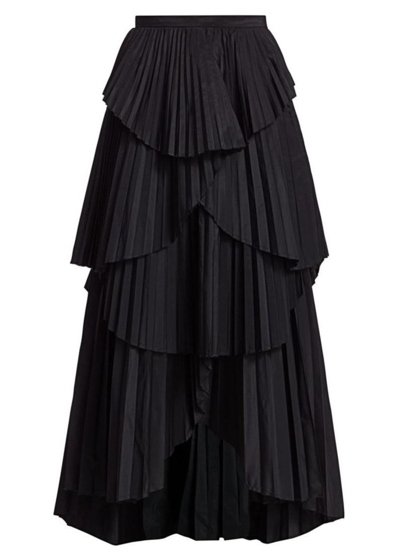 Amur Ophelia Pleated Tier Maxi Skirt