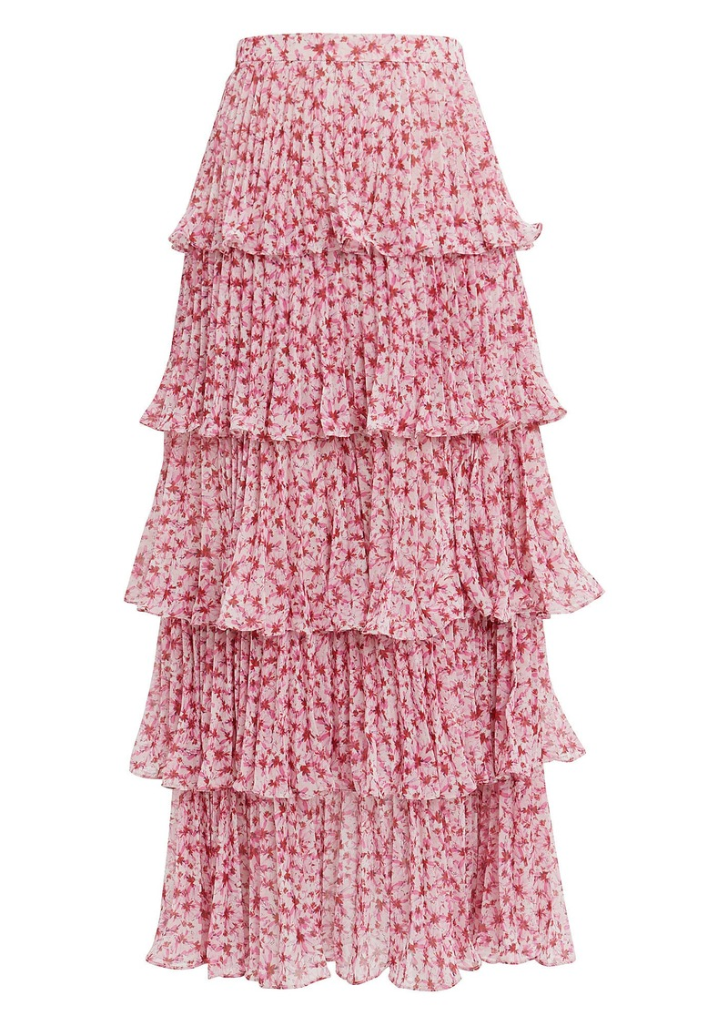 exceptional range of styles and colors the cheapest latest fashion Tiered Ruffle Midi Skirt