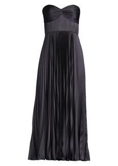 Amur Pleated Strapless Belle Dress