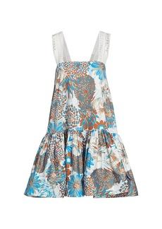 Amur Printed Cotton Sateen Dress