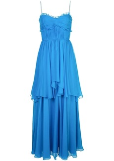 Amur ruffle tiered maxi dress