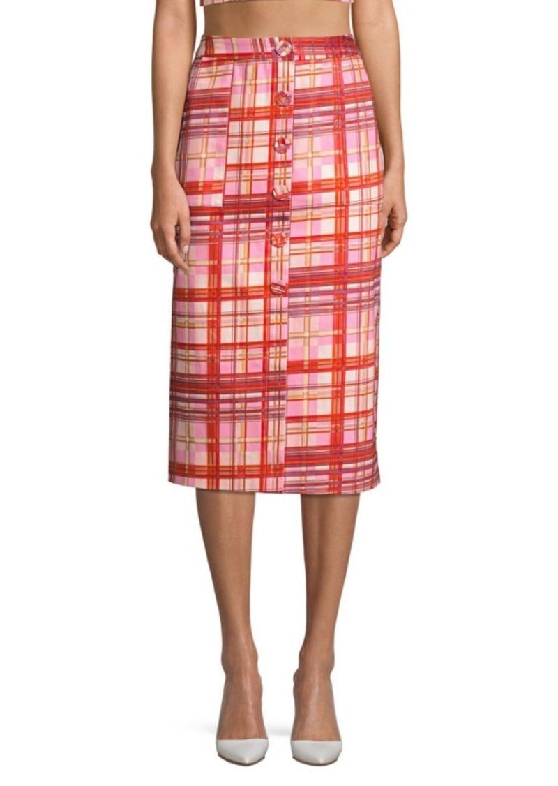 Amur Shawn Plaid Midi Skirt