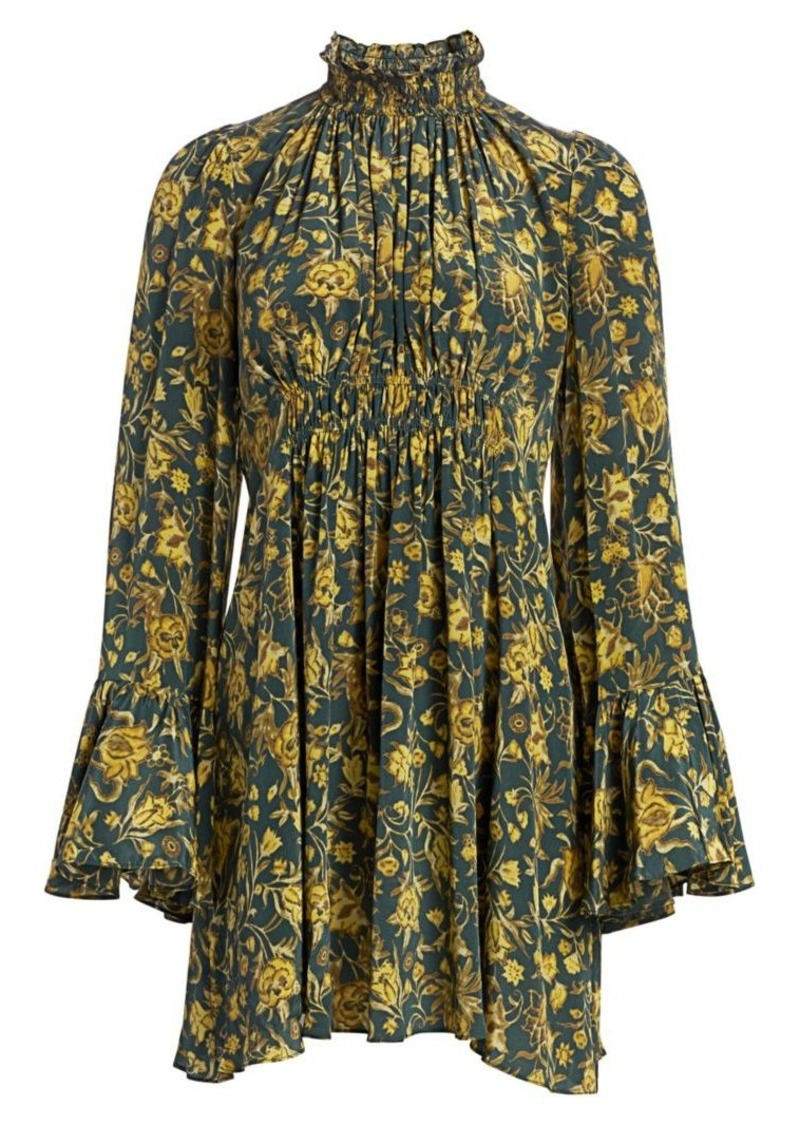 Amur Sorah Floral Silk Dress