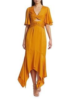 Amur Tezza Coutout Midi Dress