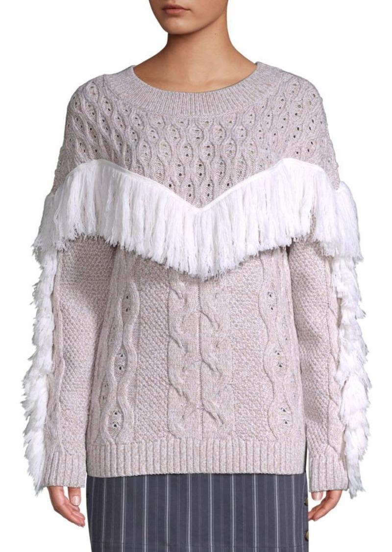Amur Ulla Fringe Wool Sweater