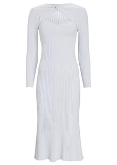 Amur Vivian Rib Knit Midi Dress