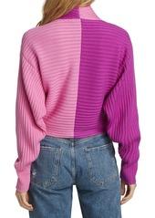 Amur Wool Colorblocked Twist-Front Sweater