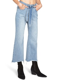 Amuse Society All Tied Up Crop Flare Jeans