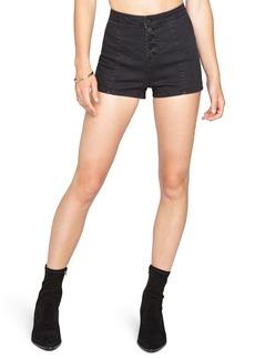 Amuse Society Midnight Moon Button Front Denim Shorts