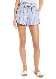 Amuse Society Stripe Paperbag Waist Shorts