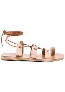 Ancient Greek Sandals Alcyone Sandal in Metallic Copper. - size 36 (also in 39,41)