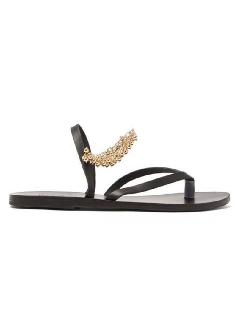 Ancient Greek Sandals Aliki chain-embellished leather sandals