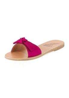 Ancient Greek Sandals Alki Satin Bow Flat Slide Sandal