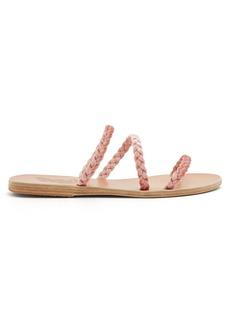 Ancient Greek Sandals Alkmin braided-velvet leather sandals