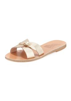 Ancient Greek Sandals Anna Flat Buckle Slide Sandals