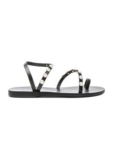 Ancient Greek Sandals Apli Leather Elefthera Pearls Sandals