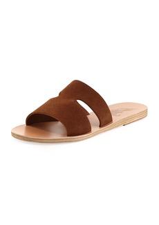 Ancient Greek Sandals Apteros Double-Band Flat Slide Sandals